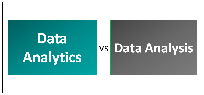 Data Analytics vs Data Analysis