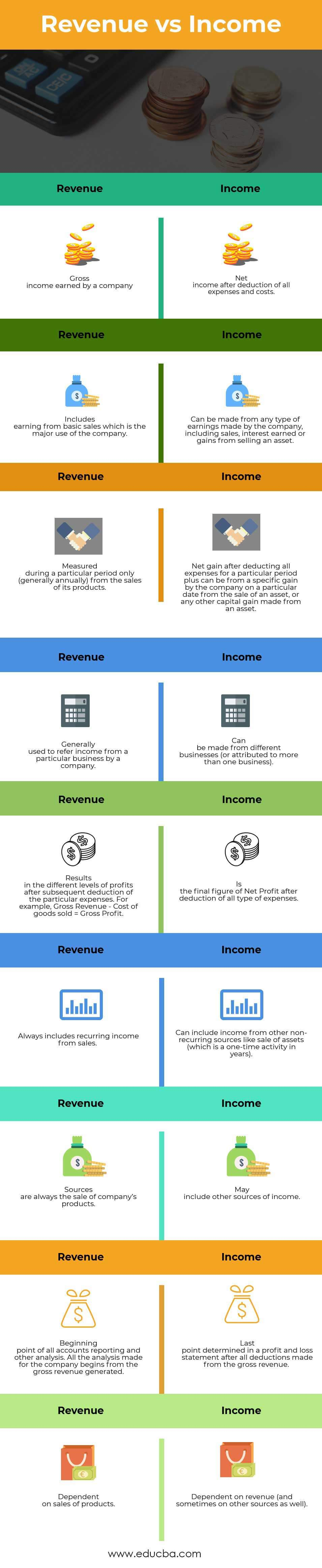Revenue vs Income Infographics