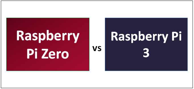 Raspberry Pi Zero vs 3