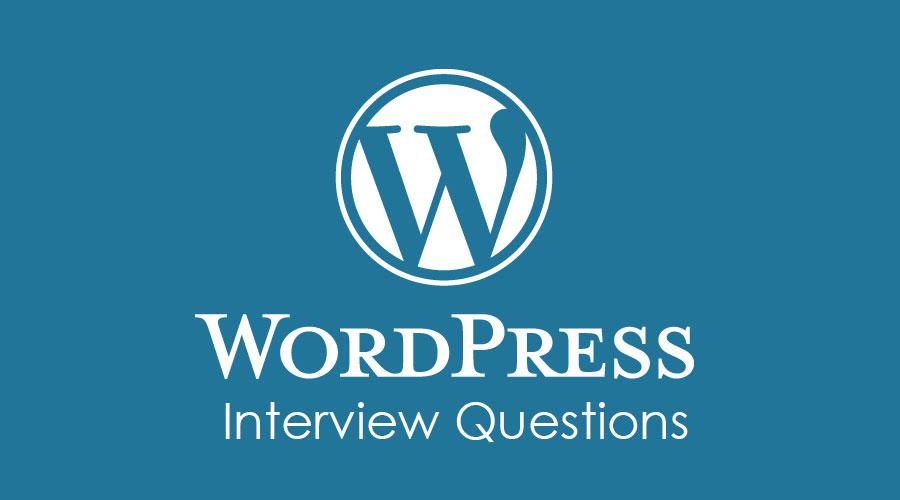 WordPress Interview Questions