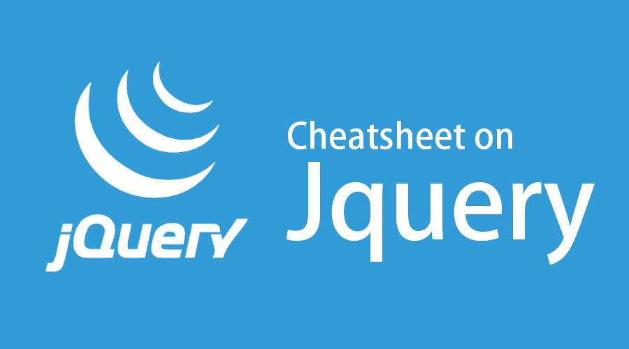 Cheat sheet Jquery