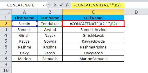CONCATENATE Example 1-4