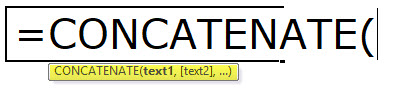 CONCATENATE Formula in Excel