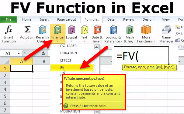 FV Function in Excel