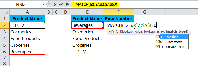 HLOOKUP Example 2.2