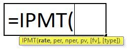 IPMT Formula