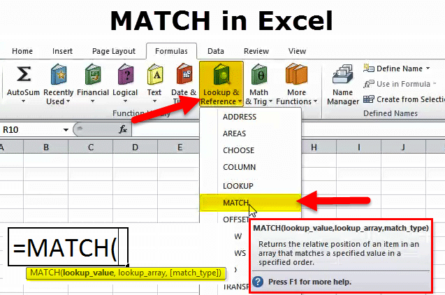 MATCH in Excel