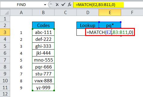 MATCH wildcard match