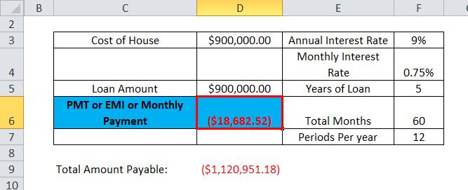 PMT Example 1-6