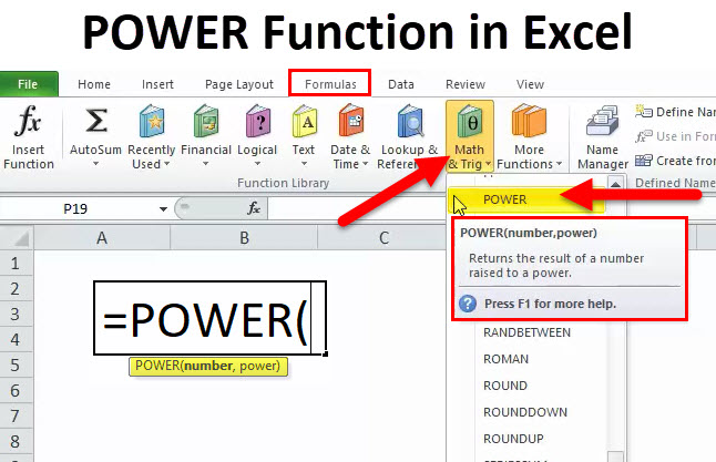 POWER in Excel