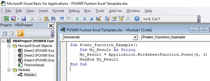 POWER in VBA 3