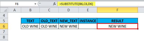 SUBSTITUTE Example 1-6