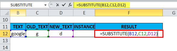 SUBSTITUTE Example 2-1
