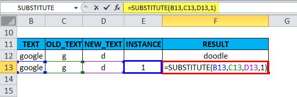 SUBSTITUTE Example 2-3