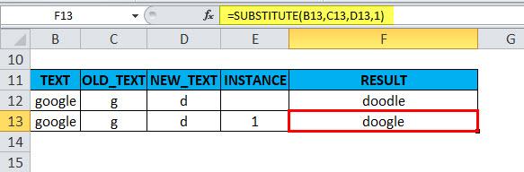SUBSTITUTE Example 2-4