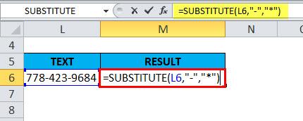 SUBSTITUTE Example 3-1