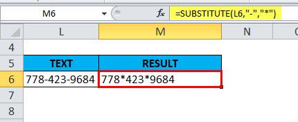 SUBSTITUTE Example 3-2
