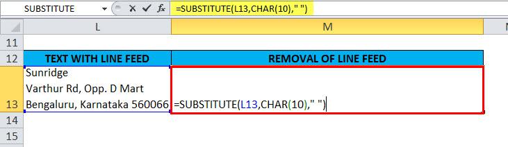 SUBSTITUTE Example 4-3