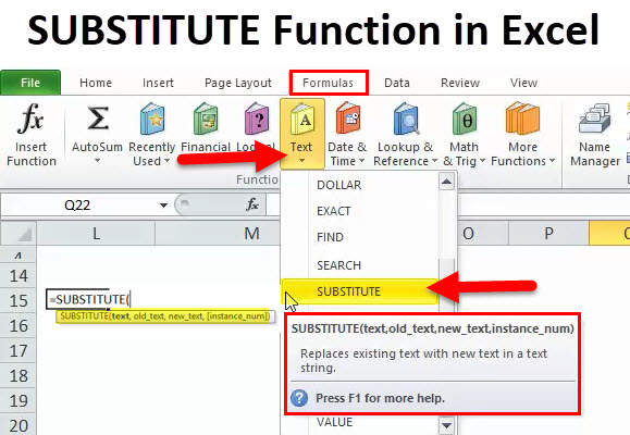 SUBSTITUTE in Excel
