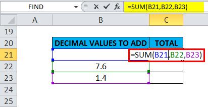 SUM Example 3