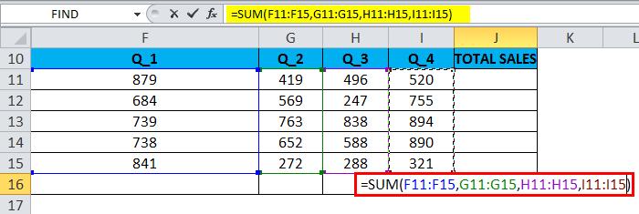 SUM Example 5