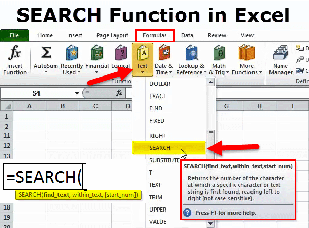 search in excel  formula  examples