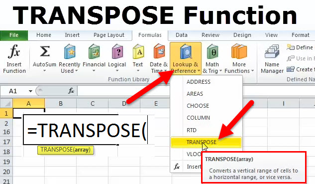 Transpose in Excel