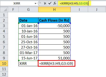 XIRR Example 1