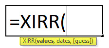 XIRR Formula In Excel