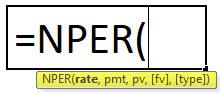 nper formula