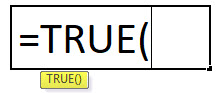 true formula in Excel