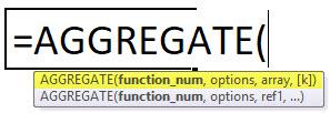 AGGREGATE Array Formula