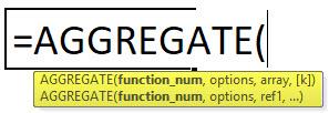AGGREGATE Formula