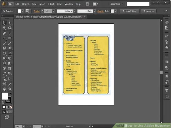 Adobe illustrator brochure