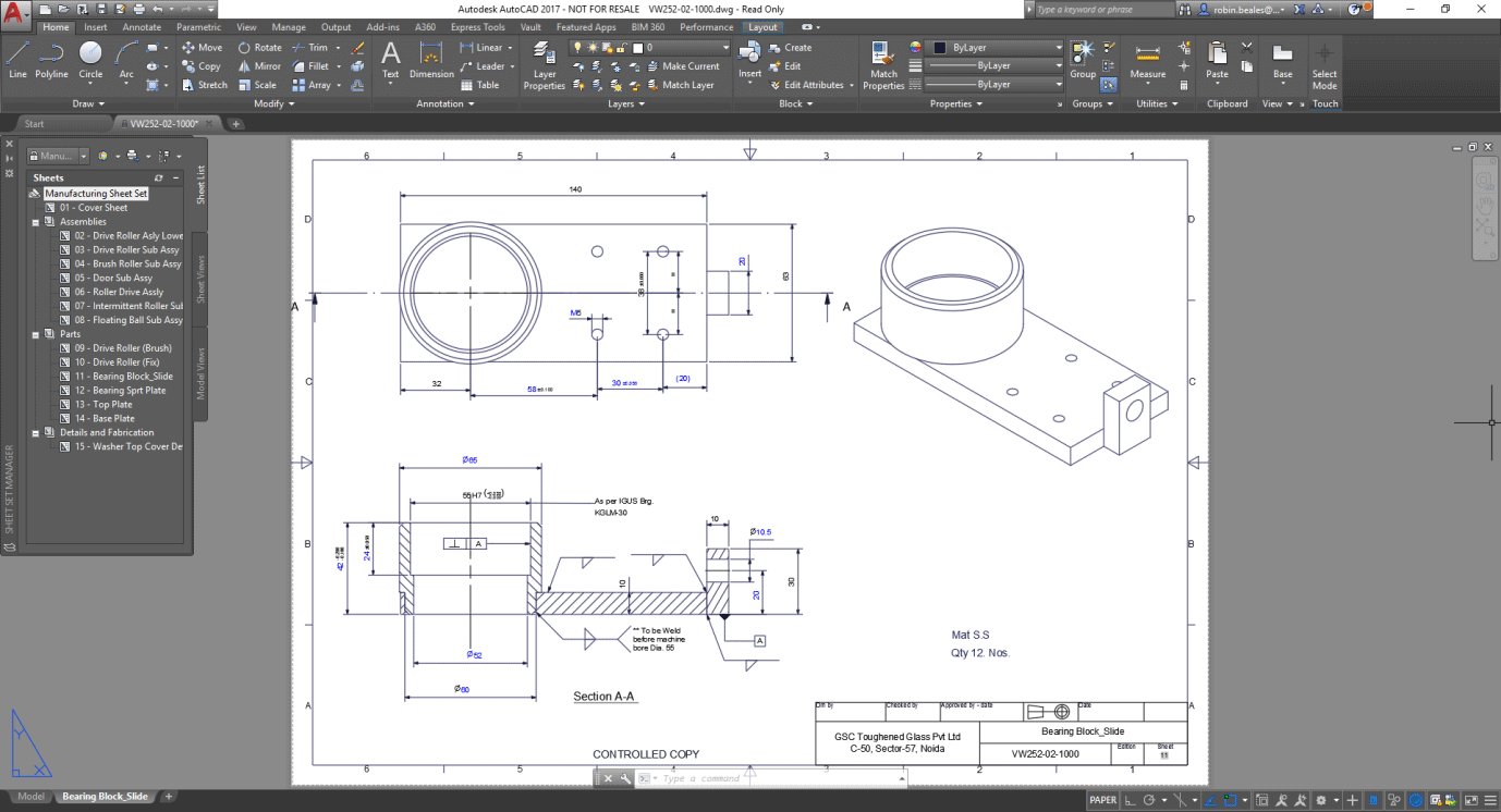 Autocad industrial tools