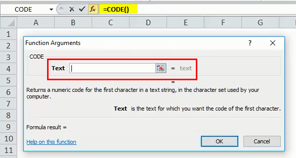 CODE Function Step 5
