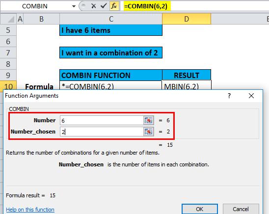 COMBIN Example 1-4