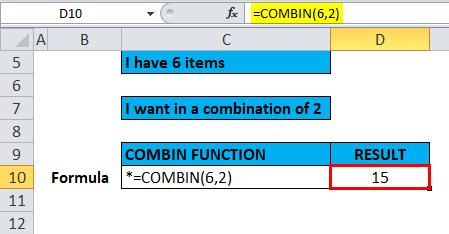 COMBIN Example 1-5