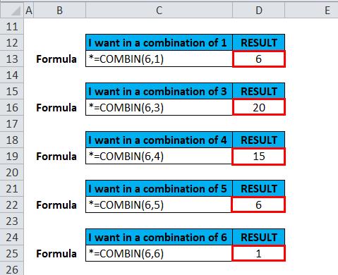 COMBIN Example 1-7