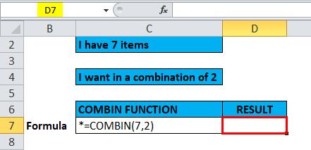 COMBIN Example 2-1