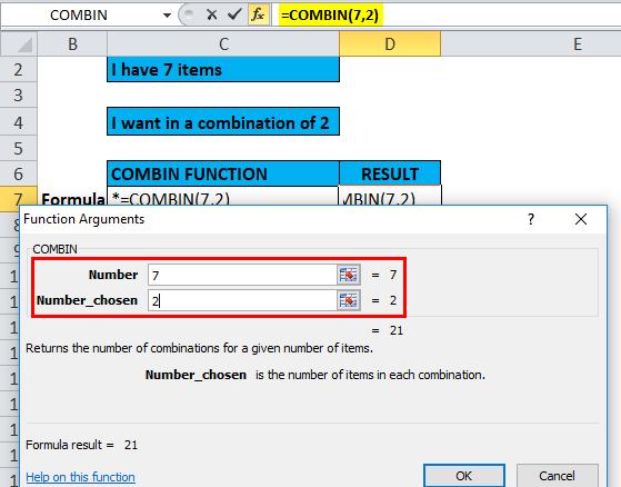 COMBIN Example 2-4