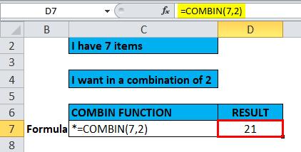 COMBIN Example 2-5