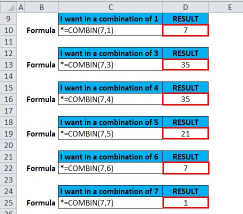 COMBIN Example 2-7