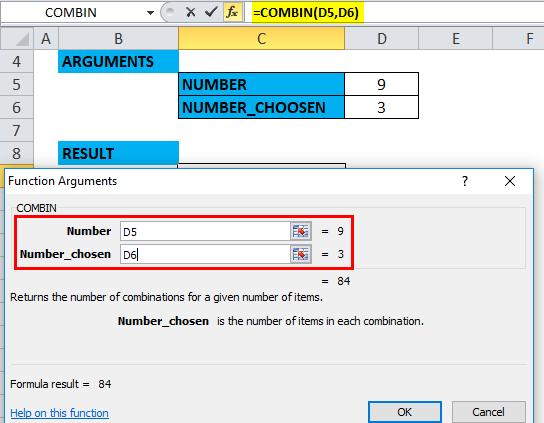 COMBIN Example 3-4