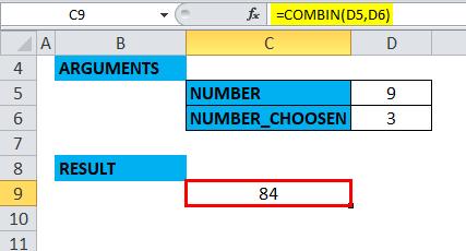 COMBIN Example 3-5