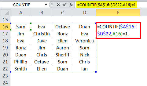 COUNTIF Example 2-2