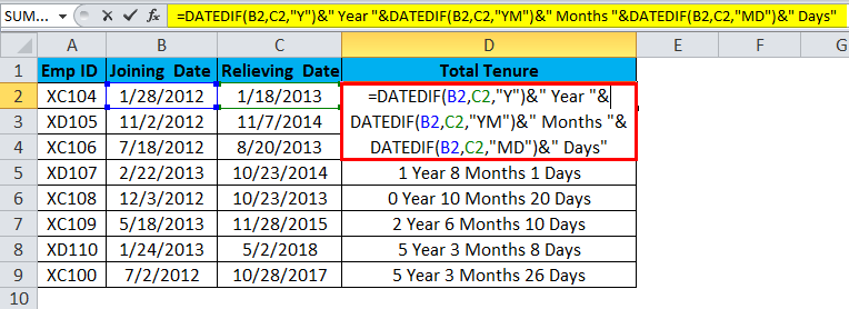 DATE Example 2.3