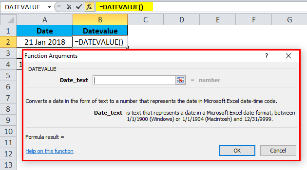 DATEVALUE Example 2-4