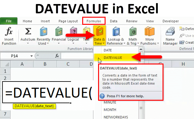 DATEVALUE in Excel