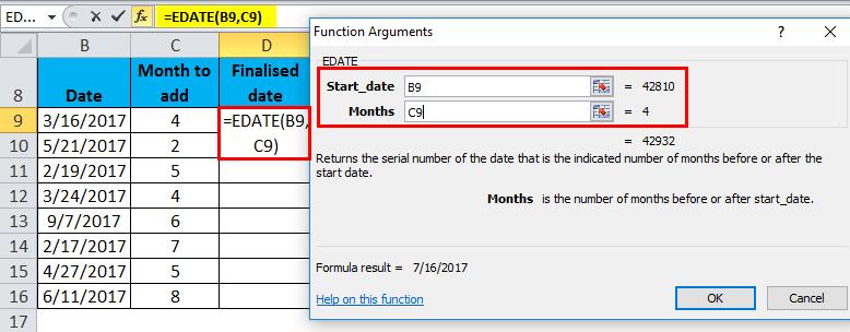 EDATE Example 1-5